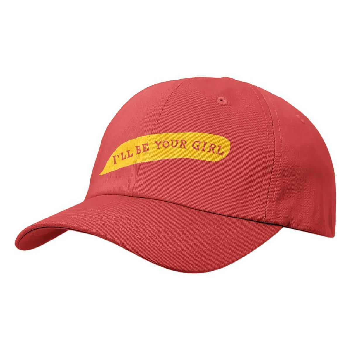 'I'll Be Your Girl' Dad Hat - Red