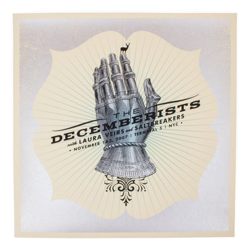 "The Decemberists NYC 2007 Limited Edition Show Poster - 19"" x 19"""