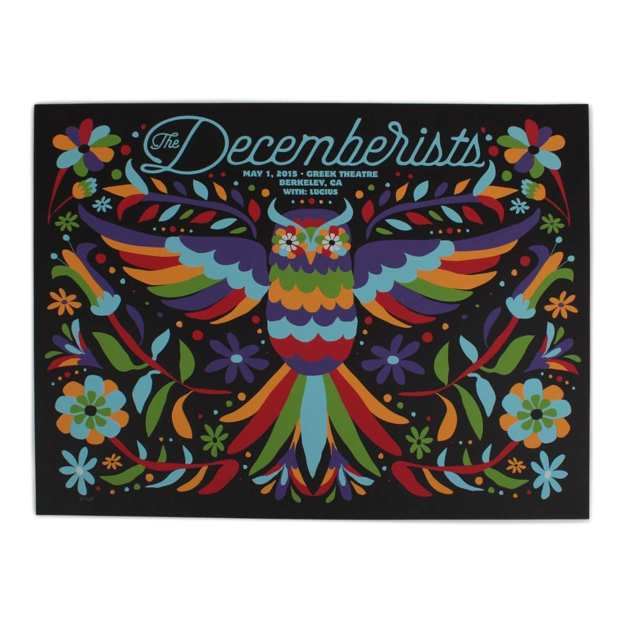 The Decemberists at The Greek Theatre in Berkley 2015 Poster - 18