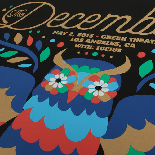 "The Decemberists at The Greek Theatre in Los Angeles 2015 Poster - 18"" x 24"""