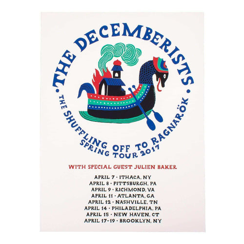 "The Decemberists Spring Tour 2017 Poster - 18"" x 24"""