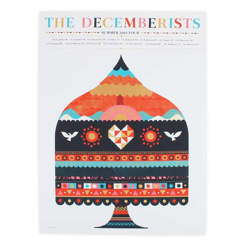 "The Decemberists Summer Tour 2015 Poster - 18"" x 24"""