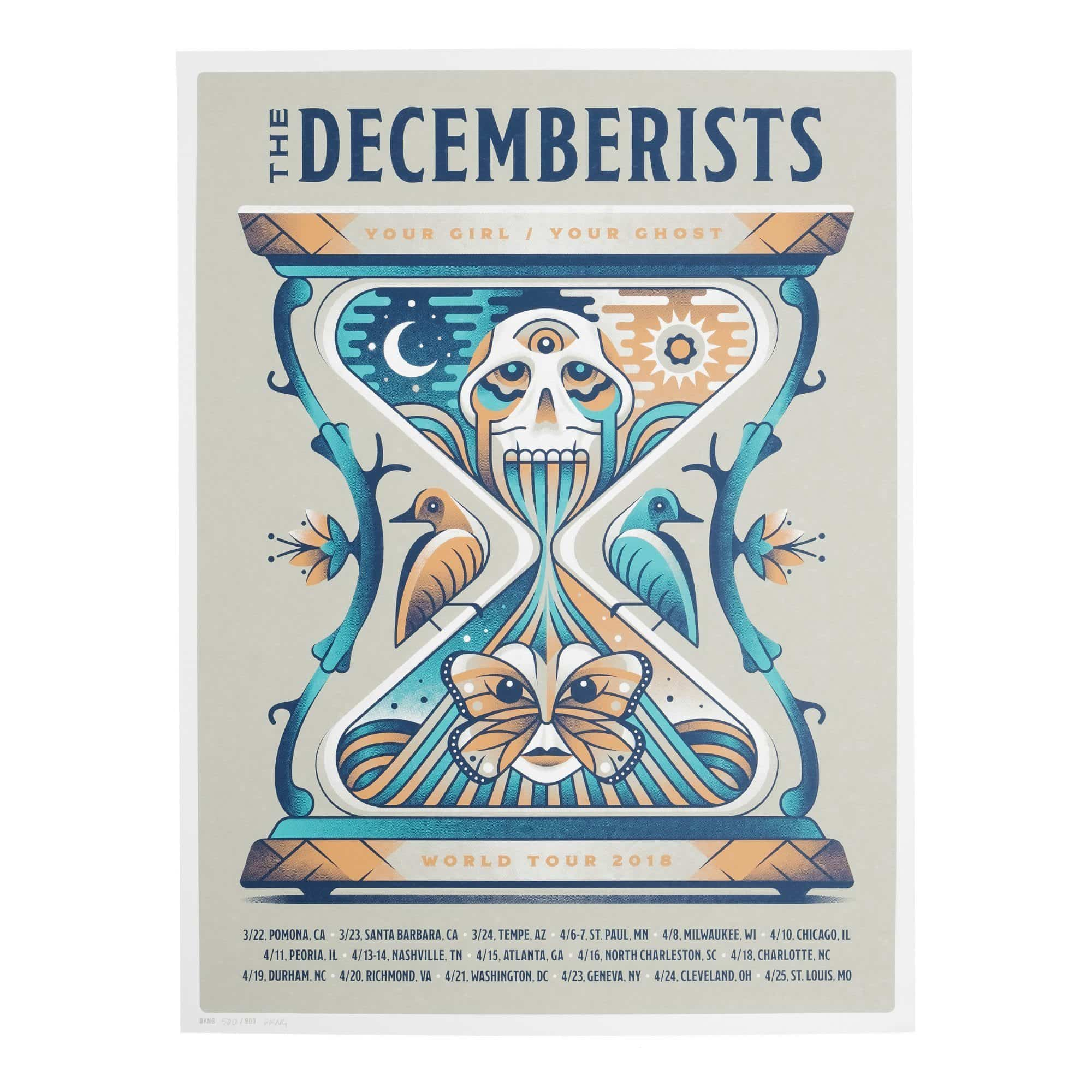 The Decemberists 'Your Girl/Your Ghost' 2018 Tour Poster - 18