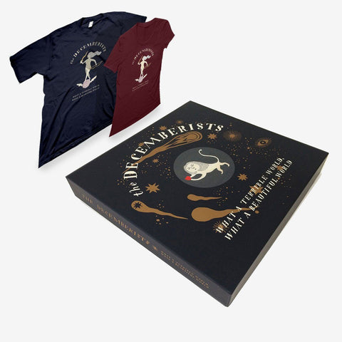 "Decemberists ""What A Terrible World, What A Beautiful World"" Deluxe Autographed Box Set & T-Shirt"