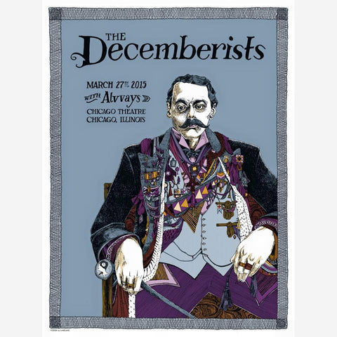 Decemberists Chicago Theatre, 2015 Tour Poster