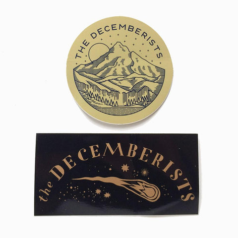 Set Of Two Decemberists Stickers