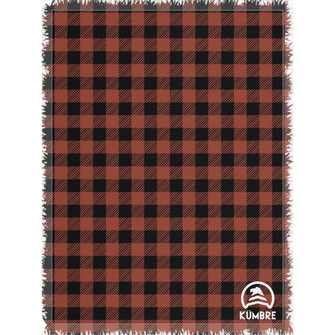 Red Buffalo Plaid Woven Blanket