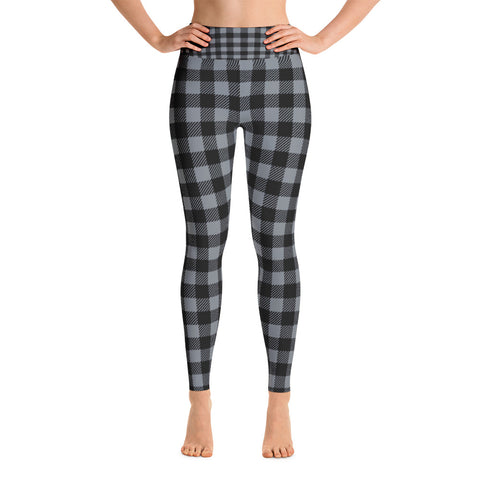 """Buffalo Plaid"" Yoga Leggings"