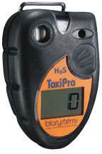 Biosystems ToxiPro Portable Hydrogen Sulphide Monitor With Replaceable Battery, Vibrating Alarm And Data Logging
