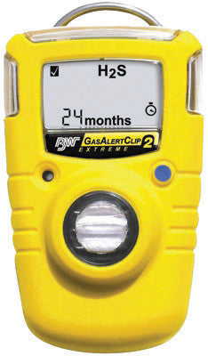 BW Technologies 2 Year GasAlertClip Extreme Portable Hydrogen Sulfide Monitor