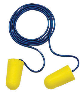 3M Single Use Classic SuperFit 30 Cylinder Shape PVC Foam Corded Earplugs