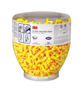 3M Single Use Classic Cylinder Shape PVC Foam Uncorded Earplugs With Vinyl Cord