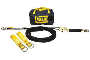 DBI/SALA 100' Sayfline Temporary Horizontal Kernmantle Rope Lifeline System (Includes Kernmantle Rope Lifeline With Tensioner, (2) Tie-Off Adapter And Anchor System With Storage Bag)
