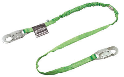 Miller by Honeywell 231TWRS-Z7/6FTGN 6' Manyard HP Polyester Web Twin-Leg Shock-Absorbing Lanyard With (1) Locking Snap Hook And (2) 2 1/2