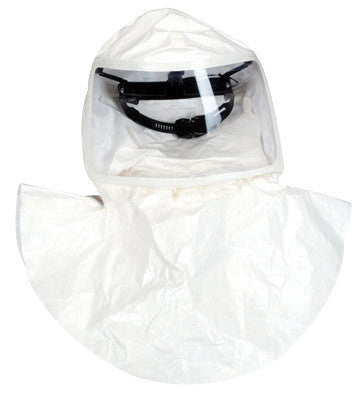 MSA Tychem QC Full Face Double Bibbed Hood With Standard Connector And Suspension (For Use With OptimAir TL Powered Respirator)