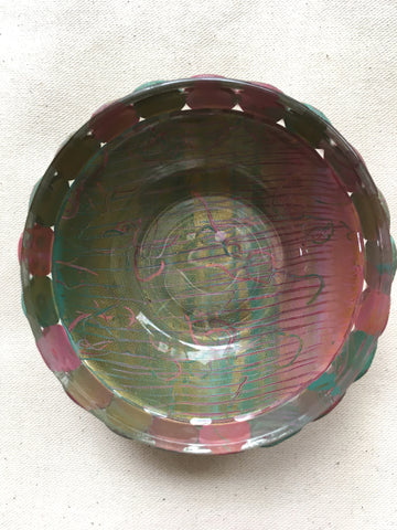 Glass Polymer Covered Trinket Bowl