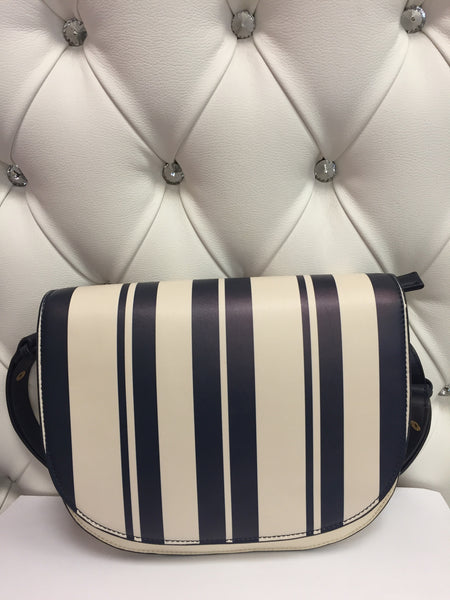 Blue and white stripes shoulder Bag