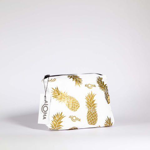 Aloha Collection Small Gold Pineapple Pouch