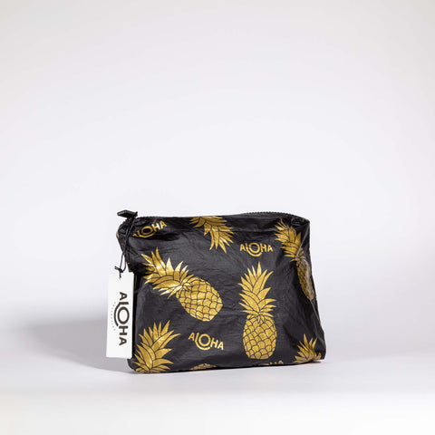 Aloha Collection Small Black Pineapple Pouch