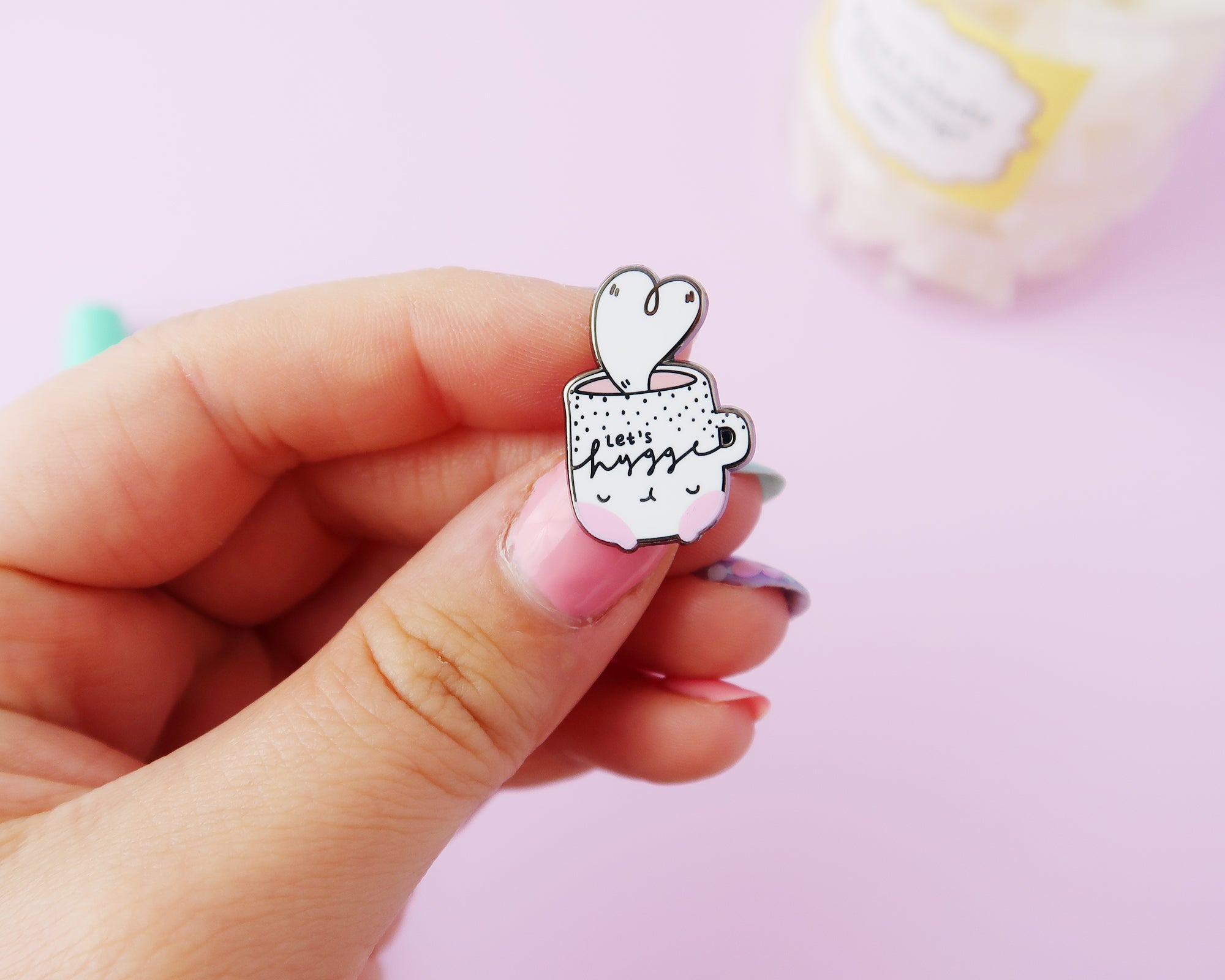 LET'S HYGGE enamel pin