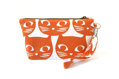 Cat's Meow Zipper Wristlet
