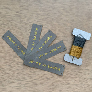 YOU ARE MY SUNSHINE Sew-In Tags