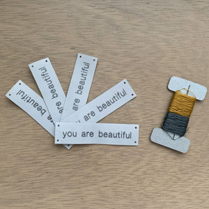 YOU ARE BEAUTIFUL Sew-In Tags