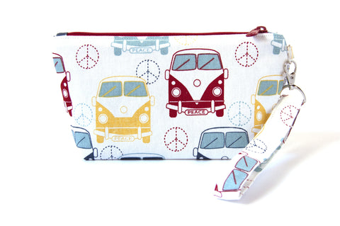 Love Bus Zipper Wristlet