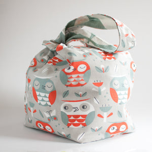 Owl Party - Large Dumpling Bag