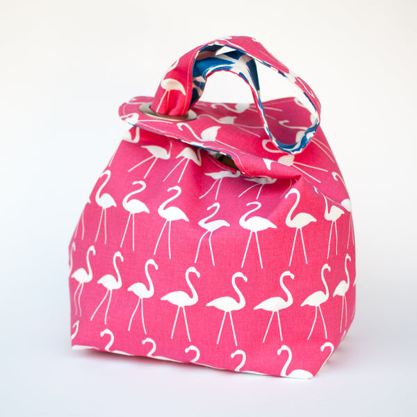 Pink Flamingos Dumpling Bag LARGE