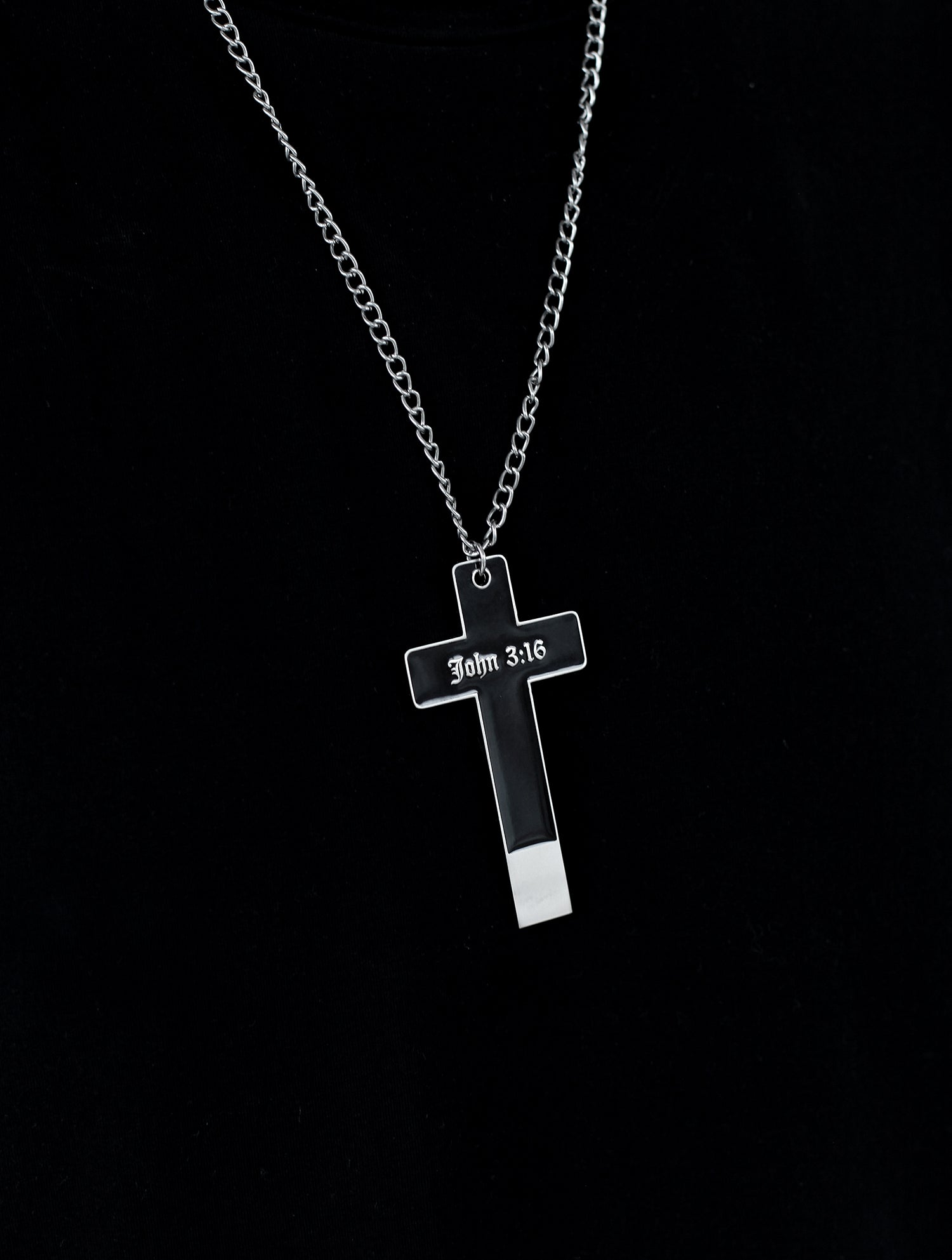 Cross USB Necklace