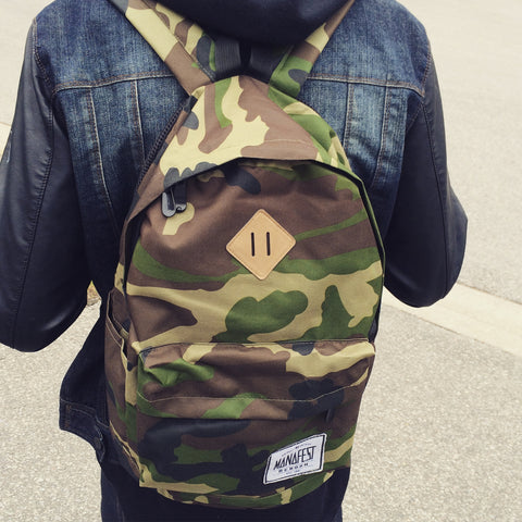 Manafest Custom Camo Back Pack PACKAGE