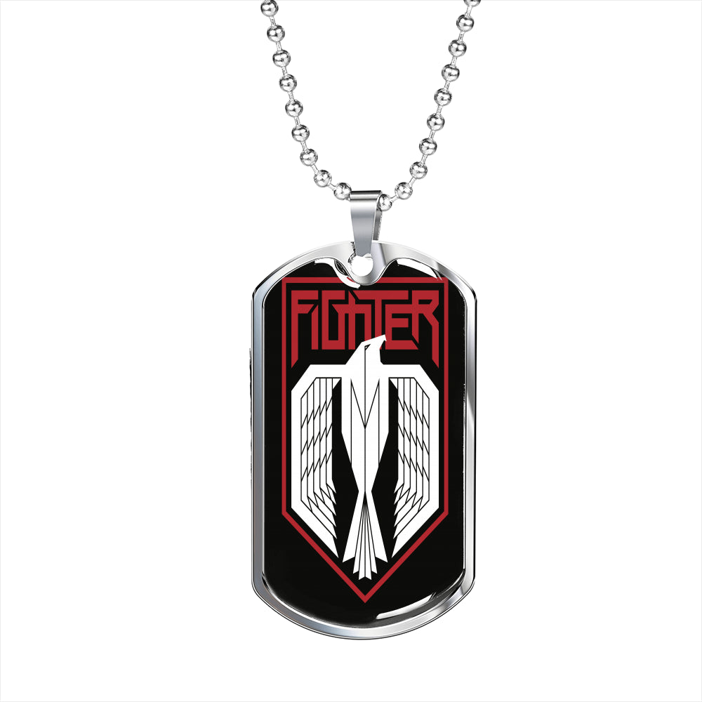 Fighter Dog Tag Chain