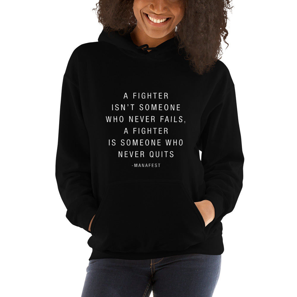 Fighter Quote Lyric Hoody