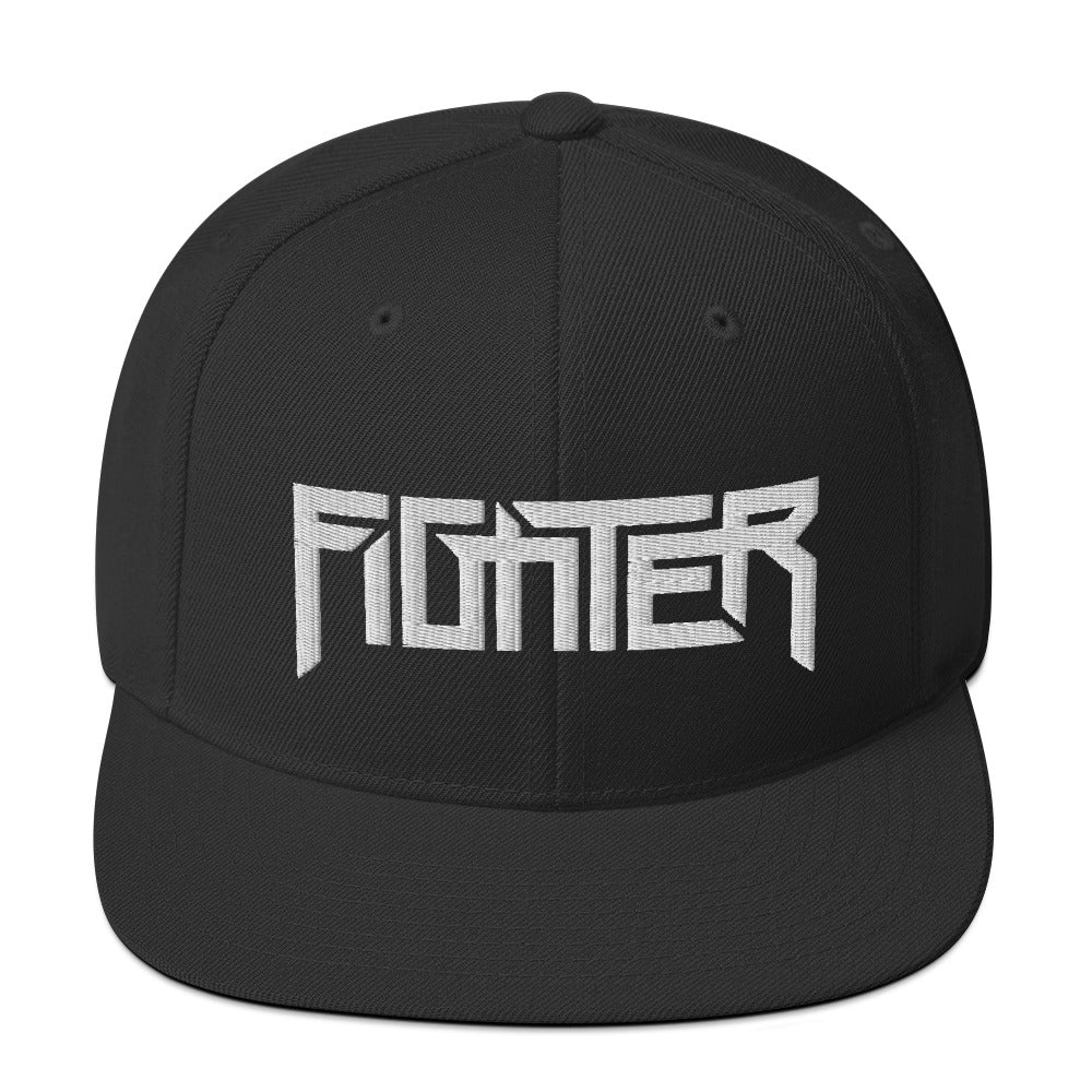 Fighter White Embroider Black