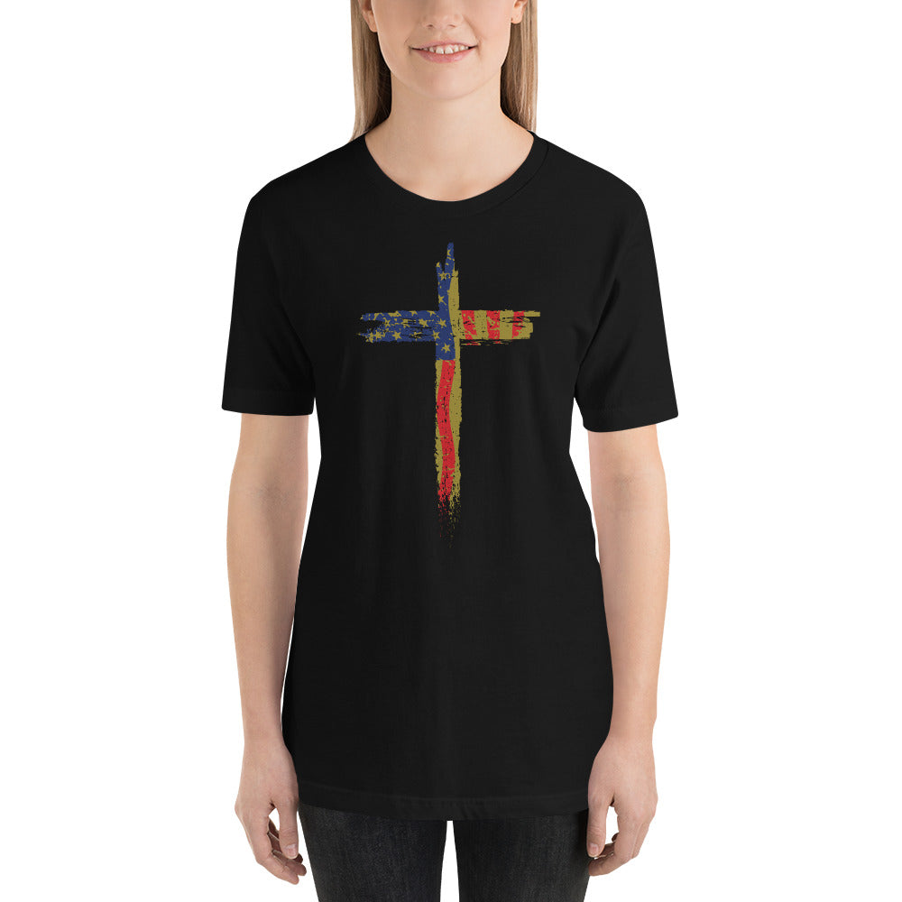 Female Patriotic Cross Shirt