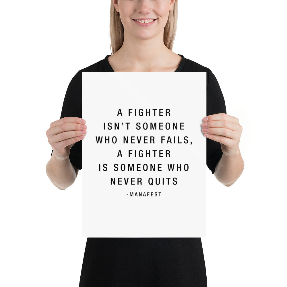 Fighter Quote Poster