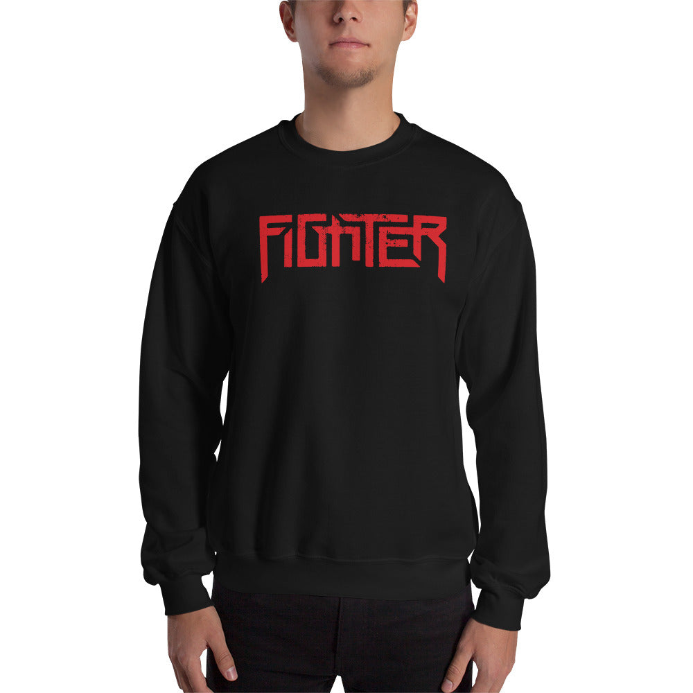 Fighter Red Logo Sweatshirt With Eagle On Back