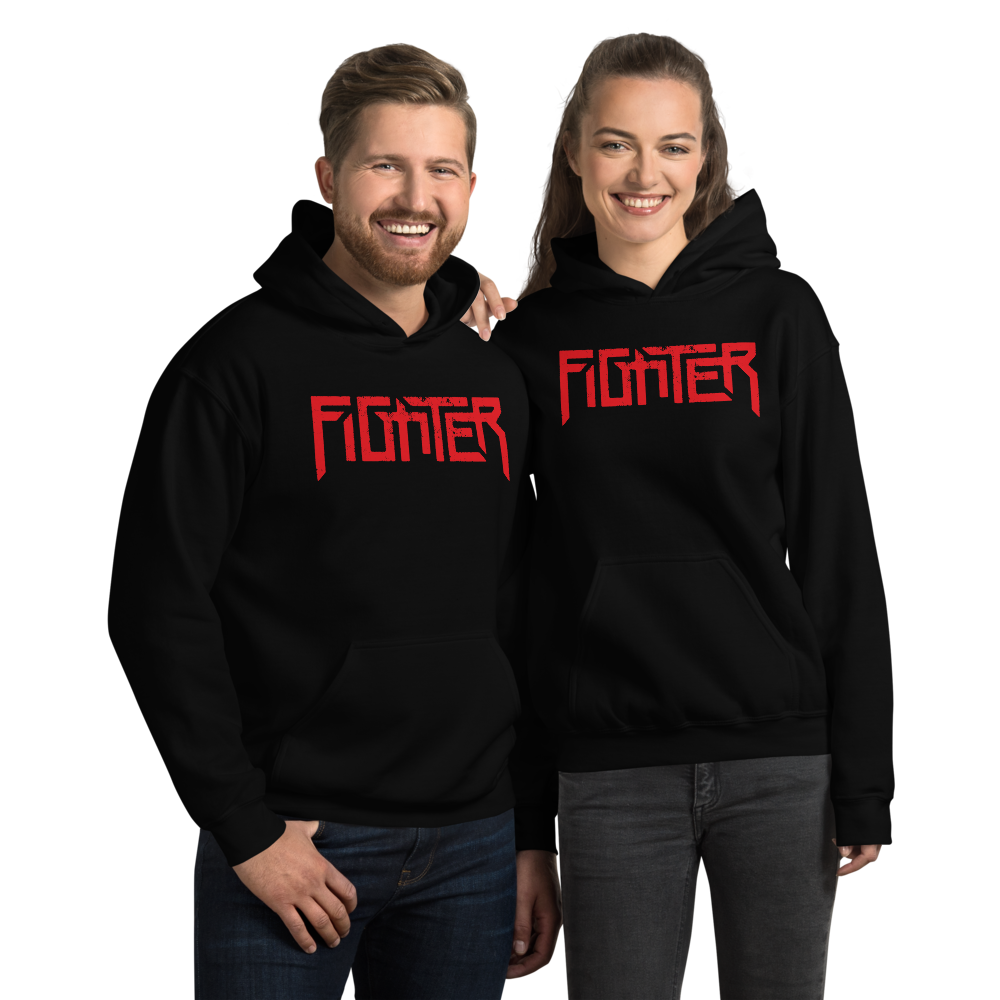 Fighter Red Logo Hoody