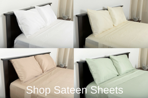 Shop Sateen Sheets - Excess Comfort bedding - Oversized Bedding