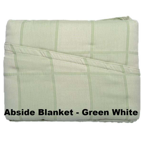 Abside Cotton Blanket Green White - Excess Comfort