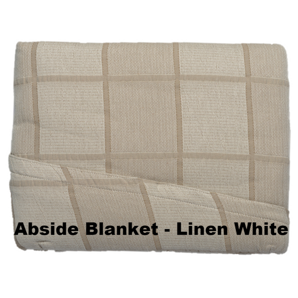 Abside Cotton Blanket Linen White - Excess Comfort
