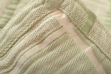 Abside Cotton Blanket - Green/White