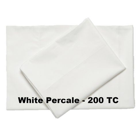 Classic Percale Cotton Sheets White - Excess Comfort