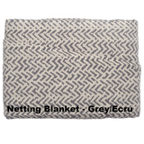 Netting Cotton Blanket Grey Ecru - Excess Comfort