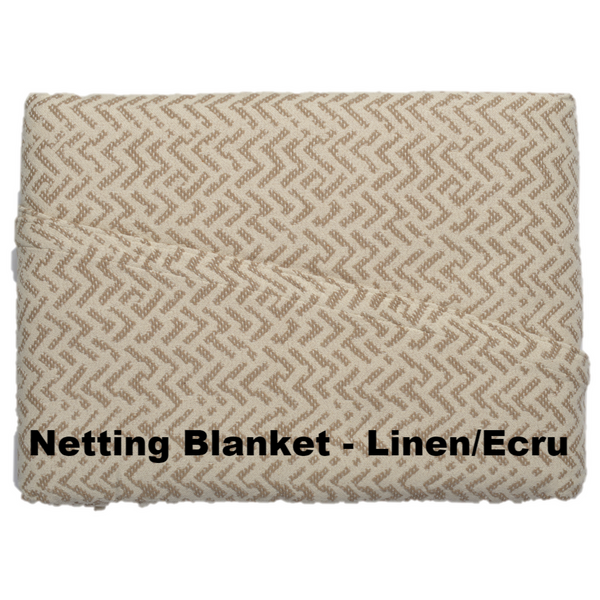 Netting Cotton Blanket Linen Ecru - Excess Comfort