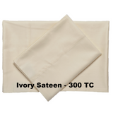 Supreme Sateen Egyptian Cotton Sheets Ivory - Excess Comfort