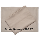 Supreme Sateen Egyptian Cotton Sheets Stone - Excess Comfort