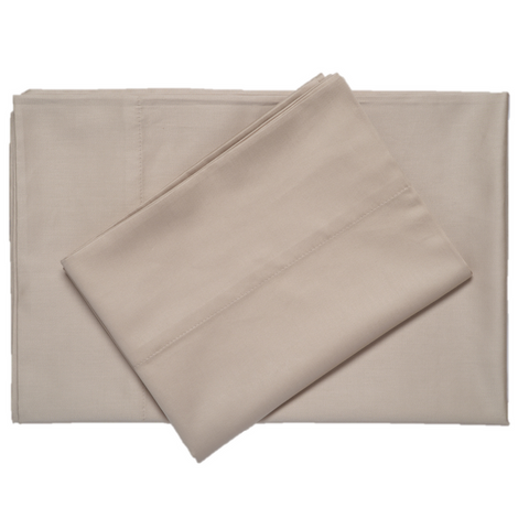 Stone supreme sateen egyptian cotton sheets top downward view made in the usa of fabric made in israel by excess comfort