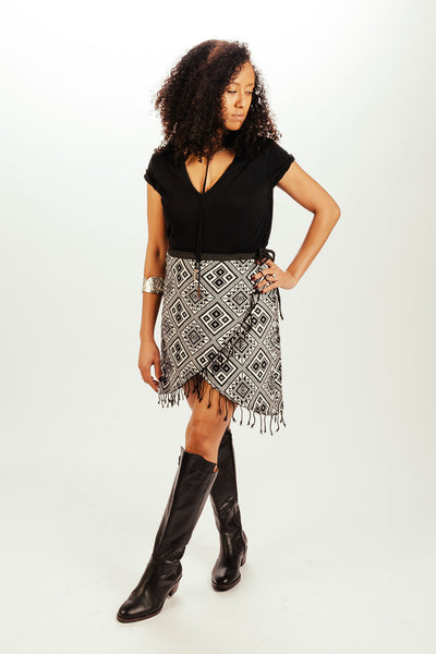 Yala Fringe Wrap Skirt
